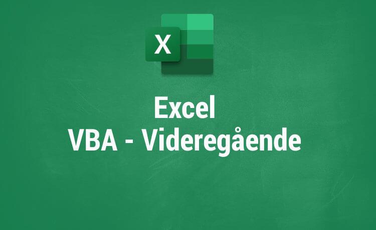VBA - Videregående