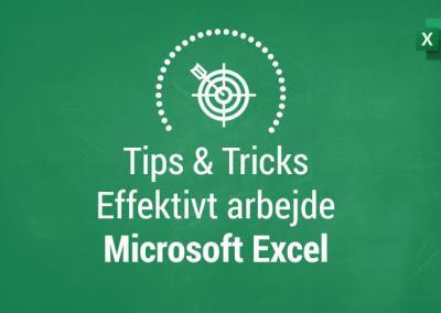 Tips og tricks til effektivt arbejde i Excel